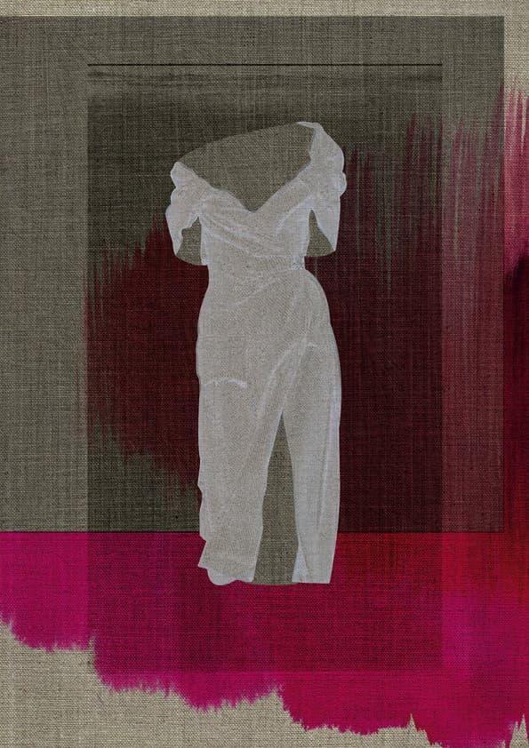 torso of a white Prada dress