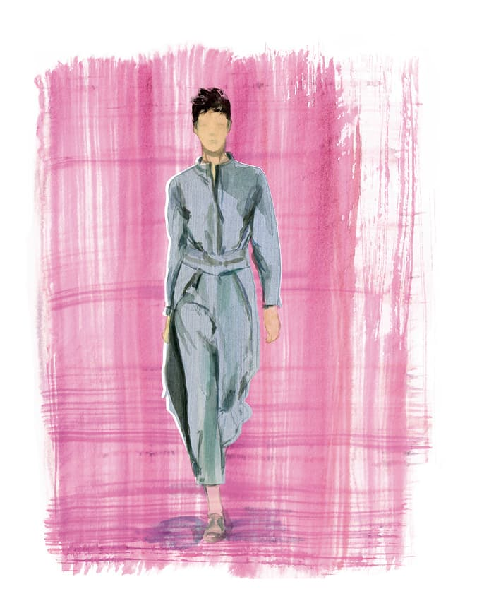woman with Armani Jumpsuit