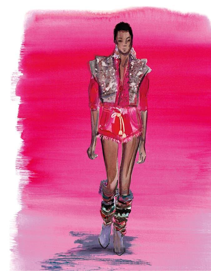 runway look hot pants Isabel Marant Paris