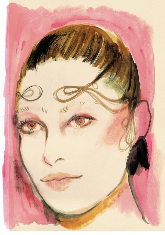 young woman, portrait, fashion show, make up,