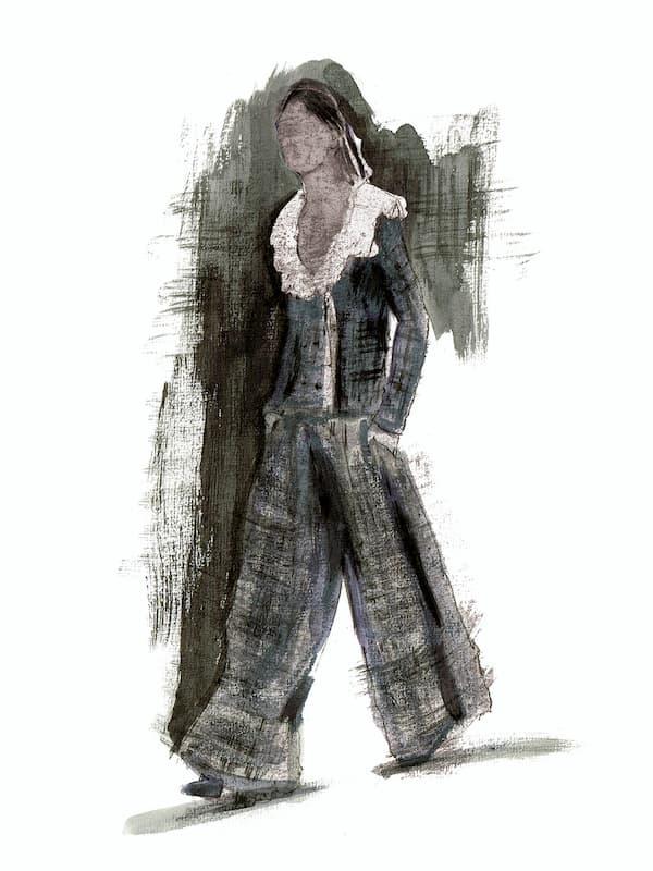Chanel pantsuit Haute Couture 2020