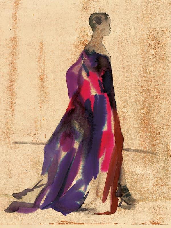 Wowan in high fashion 2020 color gradient van Herpen dress