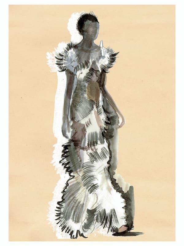 Iris van Herpen Haute Couture 2020 feather dress