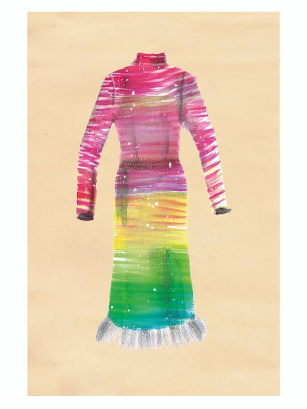 color gradient dress, high fashion, from label la double J;